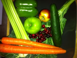 Vegetables and Fruit Juiced Jan 4 2012